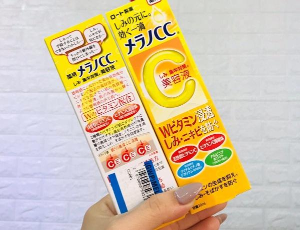 Serum CC Melano 20ml của Nhật - Trị thâm mụn tốt nhất 8
