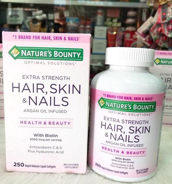 Hair, Skin & Nails Nature's Bounty 250 viên đẹp da móng tóc 1