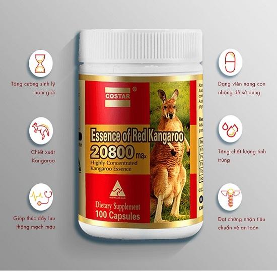 Essence of Red Kangaroo Úc 20800 tăng cường sinh lý 900