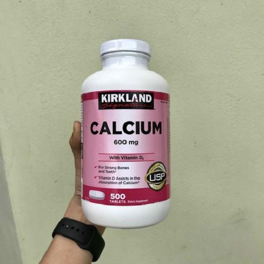 Canxi Kirkland Calcium 600mg + Vitamin D3 của Mỹ 500 3