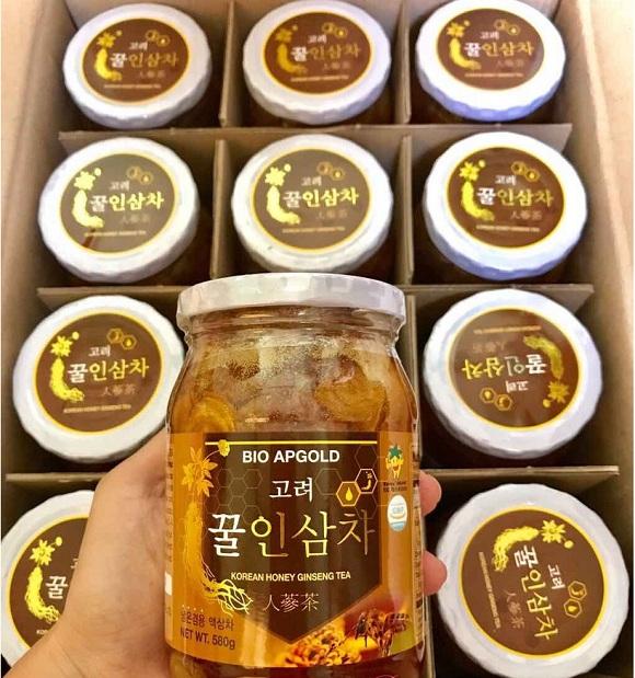 Nhân sâm tươi ngâm mật ong 580g Hàn Quốc Bio Apgold 9