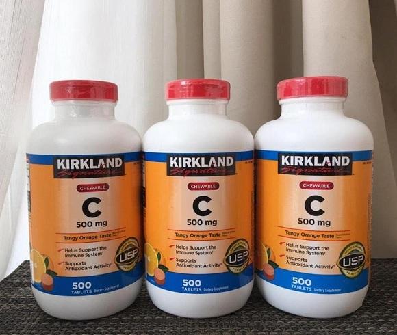 Viên Vitamin C 500mg Kirkland 500 viên Mỹ mẫu mới nhất 7