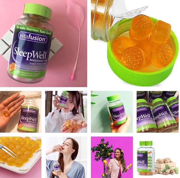 Vitafusion SleepWell Melatonin 3mg - Kẹo dẻo ngủ ngon 250v 4
