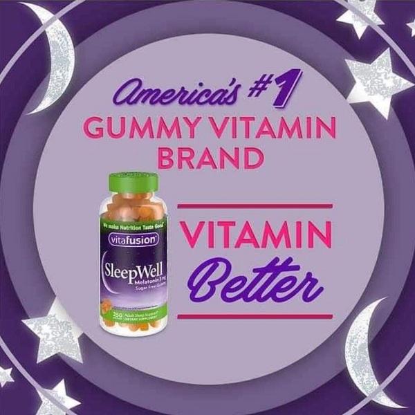 Vitafusion SleepWell Melatonin 3mg - Kẹo dẻo ngủ ngon 250v 9