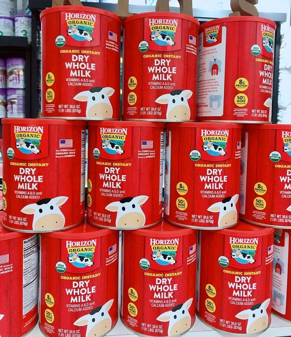 Sữa tươi Horizon Organic dạng bột review từ khách hàng 3