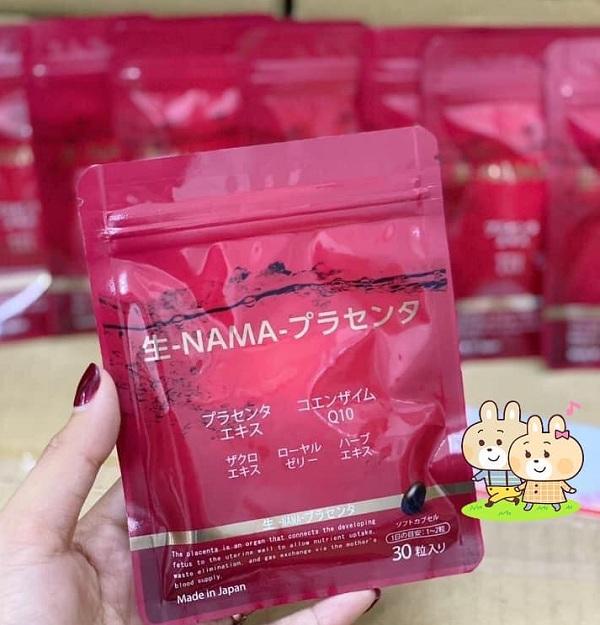 Viên uống nhau thai tươi Q10 Nama 30 viên Nhật Bản giá tốt 9
