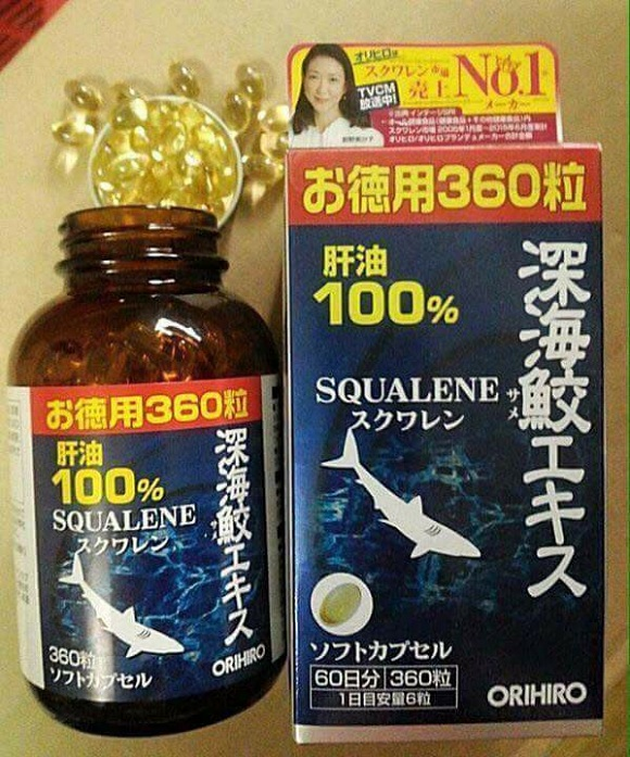 Cách sử dụng Squalene Orihiro 360 viên hiệu quả cao nhất 0