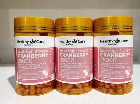 Healthy Care Cranberry 25000mg có tốt không?