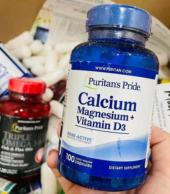 Calcium Magnesium Vitamin D3 100 viên Puritan's Pride 7