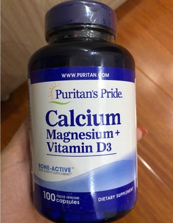 Calcium Magnesium Vitamin D3 100 viên Puritan's Pride 3